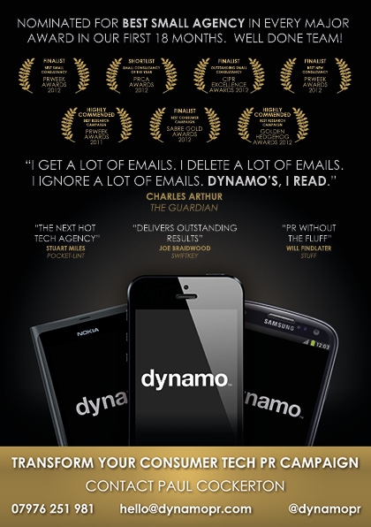 Dynamo PR – An Advert! - Blog Archive - Pat Scullion Blog